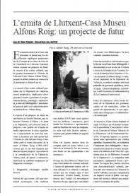 L'ermita de Llutxent-Casa Museu Alfons Roig: un projecte de futur