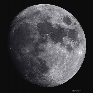 Els planetes i la lluna a la palma de la mà