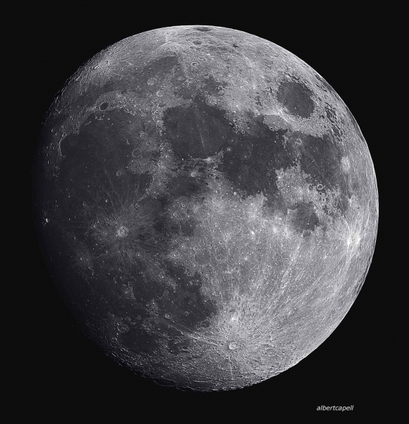 Los planetas y la luna en la palma de la mano